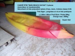 Canoë RTM BAÏA BEACH KAYAK